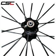 CSC 700C 24mm tubular full carbon road/racing front wheelset Novatec hub CNspoke