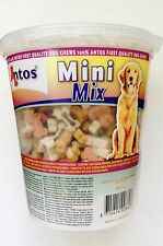 Antos Mini Mix Bones Dog Training Treats ~ 500g Tub ~  Chicken, Lamb & Salmon