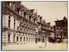 France, Grenoble, Place du Tribunal et statue de Chevalier Bayard  Vintage album