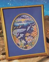 Porthole to Paradise Whale Ocean Cross Stitch Leaflet Book Color Charts 1990