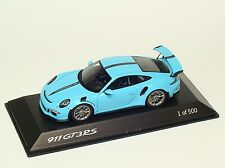 Porsche 911 GT3 RS 991 Exclusive Manufaktur blau blue Spark 1:43 Dealer 500 pcs.