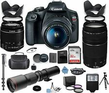 Canon EOS Rebel T7 DSLR Camera with 18-55mm is II Lens Bundle + Canon EF 75-300m
