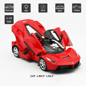 1/32 Scale Ferrari LaFerrari Super Car Model Metal Diecast Gift Toy Vehicle Red
