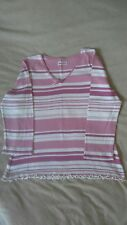 Womens Bonmarche Pink striped top size small