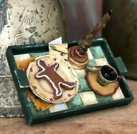 Dollhouse Artisan Christmas Gingerbread Snack Tray!IGMA Betterley: Signed!