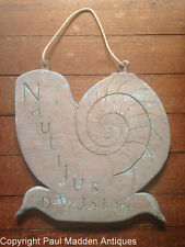 Antique folk art carved and painted Cape Cod sign