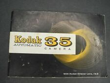 Kodak Automatic 35 1959 Camera Instruction Book / Manual / User Guide