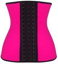 Daisy Corsets Hot Pink Steel Boned Latex Shaper training Corset Size X-Large