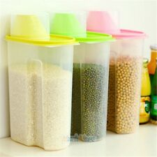 Set of 3 Large Cereal & Dry Food Storage Containers BPA-Free Plastic Container