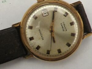 a vintage gents stainless steel cased sekonda 30 jewel automatic watch