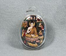 Rare Takrud Locket All Buddha Phra LP Doo Wat Sakae Talisman Thai Amulet Old