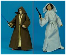 STAR WARS BLACK SERIES 6 Inch - Obi-Wan Kenobi & Princess Leia - LOOSE / MINT