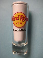 FLORENCE,Hard Rock Cafe,Shot Glass,New,Red Circle,Black Letters