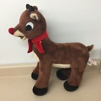 "DanDee Greeter Rudolph Red Nosed Reindeer 19"" Standing Christmas Plush AR189"