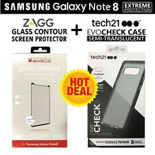 Tech21 Case Cover for Samsung Galaxy Note8 + Zagg Note 8 Glass Screen Protector
