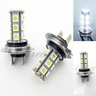 LED H7 6000K Super White Xenon 18 SMD 12V Headlight #d29 2x Bulb Low Beam Light