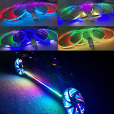 "15.5"" LED Wheel Ring Lights RGB Color Chasing Turn&Brake Signal Music Bluetooth"
