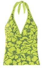 TITLE Nine Set It & Forget It Green Leaf Tankini Bikini Top Swimsuit REVERSIBLE