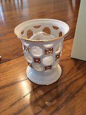 Lenox Florentine & Pearl Porcelain Octagonal Votive Candle Holder New in Box