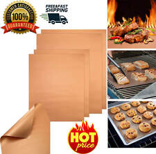 4 PCS Copper Chef Grill and Bake Mats BBQ Pad Tool Camping Hiking Home Outdoor