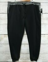 Southpole Jogger Pants Mens Size 5XB Black & Marled Fleece Sweat Slim Fit New