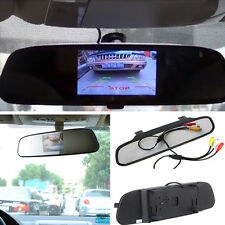 "4.3"" TFT LCD Rearview Mirror Car Rear view Backup Rotating Color Monitor Screen"