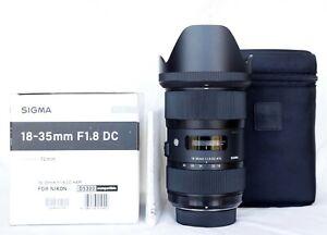 SIGMA 18-35mm f/1.8 DC HSM Art Lens Nikon, Preowned MINT, Sharp, Warranty