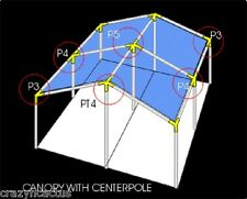 """Canopy Fittings for 10'x20' or 20'x20' Canopy 3/4"""" Inch Greenhouse, Shade etc"""