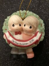 2016 Precious Moments Dated Our First Christmas Together Ornament 161004 ~ Mib