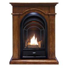 ProCom Ventless Dual Fuel Fireplace System With Corner Combo - Walnut Finish