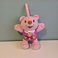 Vtech Little Singing Bear Pink Baby Toy Soft Plush Musical Comforter Pram Clip
