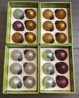 vintage crackle glass ornaments set of 24