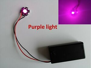 LED lamp for personal projects, 1W Purple LED Battery Power, LED with switch