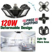 120W 60W LED Garage Light Deformable Ceiling Light For Workshop E26 E27 Base JOC