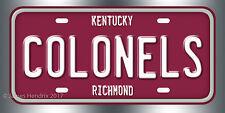 Eastern Kentucky University Colonels Richmond Kentucky NCAA License Plate