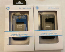New At&T Cingular Flip Blue Soft Touch Shield Case