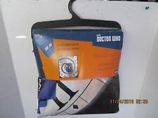 """Doctor Who Licensed Throw Blanket - Velveteen """"TIME WRAP"""" New With Tags"""