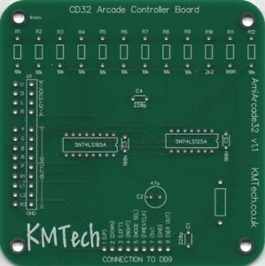 KMTech AmiArcade32 CD32 Controller Amiga Happ Sanwa Retro  DIY PCB