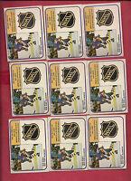 9 X  1981-82 OPC # 386 ISLANDERS MIKE BOSSY GOAL LEADERS CARD