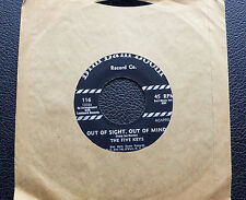 """7"""" The Five Keys-Out of sight, out of mind/Close Your Eyes-US Doo Wop"""