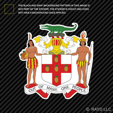 Jamaican Coat of Arms Sticker Decal Self Adhesive Vinyl Jamaica flag JAM JM