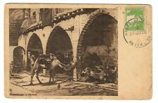 Judaica Germany Old Postcard Camels By E.M. Lilien Military Post