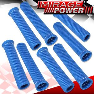 Universal X8 1200? Thermal Spark Plug Wire Heat Shield Sleeve Drifting Set Blue