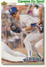 367 EDGAR MARTINEZ SEATTLE MARINERS  BASEBALL CARD UPPER DECK 1992