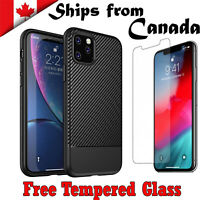 For Apple iPhone 11 Pro Max Heavy Duty Luxury Carbon Case Cover Shockproof
