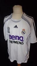 maillot de football vintage Réal Madrid N° 9 Bapt Adidas Blanc Taille 12 ans