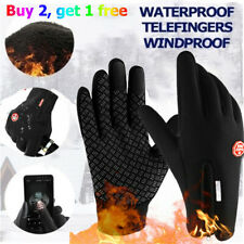 Men Winter Sports Warm Gloves Windproof Waterproof Thermal Touch Screen Mittens