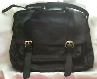 Black Genuine Leather Country Road Handbag Satchel Shoulder Hand Bag Purse