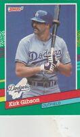 FREE SHIPPING-MINT-1991 Donruss #445 Kirk Gibson Los Angeles Dodgers Baseball Cd