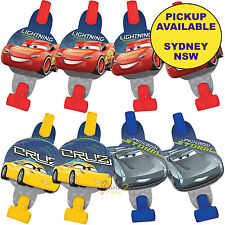 DISNEY CARS 3 PARTY SUPPLIES 8 PACK BLOWOUTS BLOWERS LOOT FAVOURS